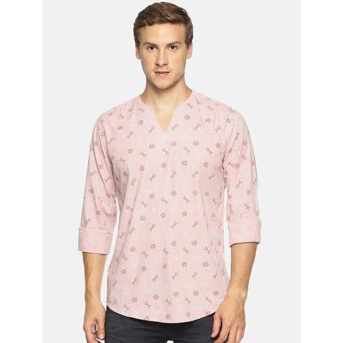 Bene Kleed pink printed short kurta