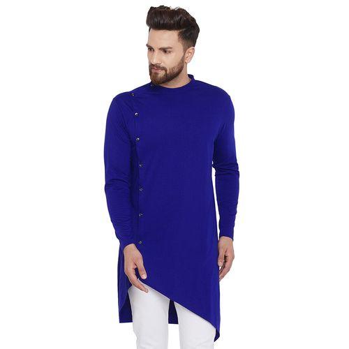 Chill Winston blue solid asymmetric kurta