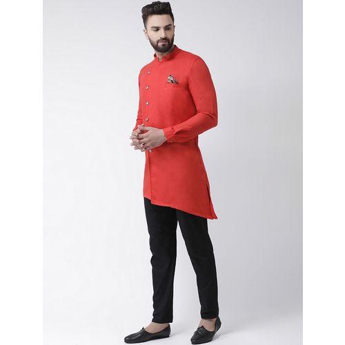 I KNOW red solid asymmetric kurta