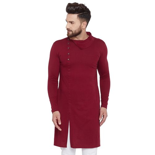 Chill Winston maroon solid long kurta
