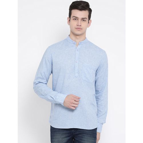 CRIMSOUNE CLUB blue solid short kurta