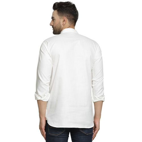 ABH Lifestyle white solid short kurta
