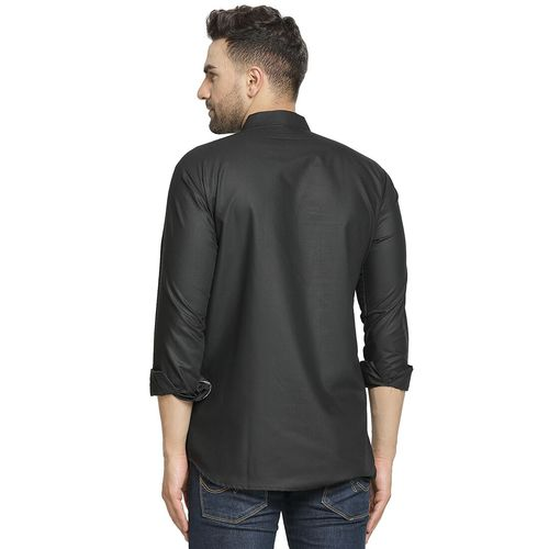 ABH Lifestyle black solid short kurta