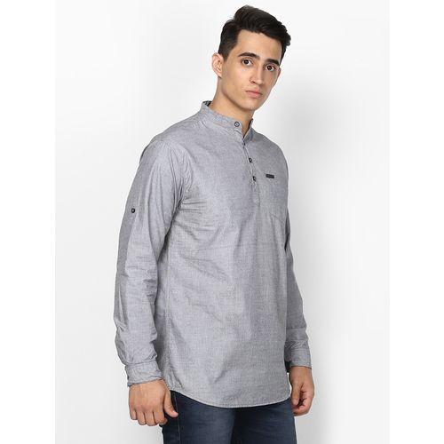 Urbano Fashion grey solid short kurta