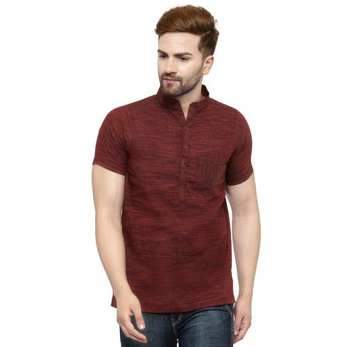 ED brown cotton short kurta