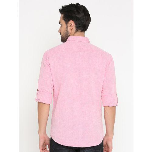 WITH pink cotton short kurta