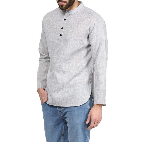 Vivids India grey solid short kurta