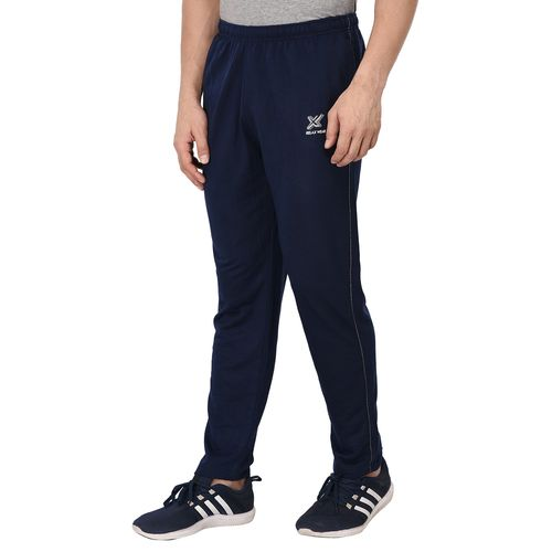 Odoky navy blue fleece full length track pant