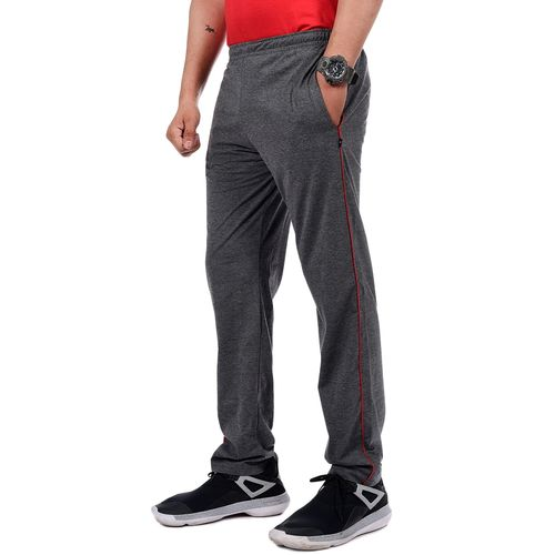 Zeffit grey solid full length track pant