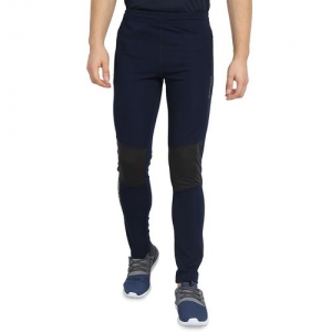 Off Limits navy blue polyester full length track pant