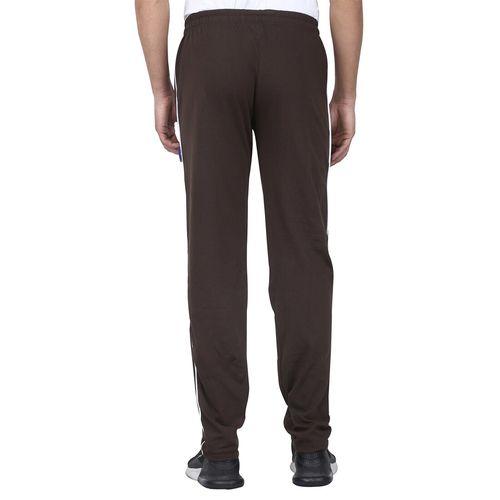 Phoebus brown solid full length track pant