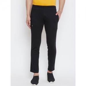 Hotline black solid ankle length track pant