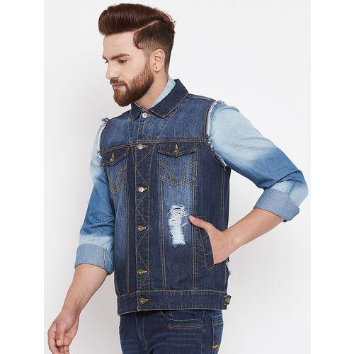 Canary London blue ripped denim jacket