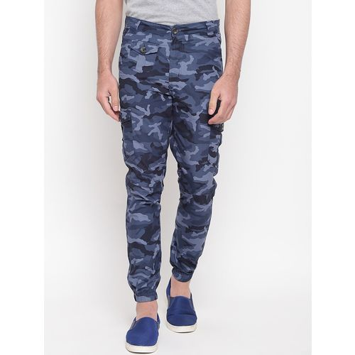 SAPPER blue camouflage print jogger