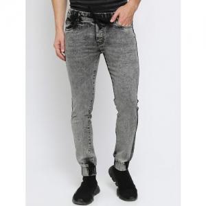 Breakbounce Streetwear grey heavy washed denim joggers