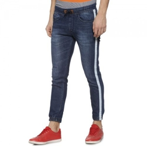 Campus Sutra blue side taped jogger