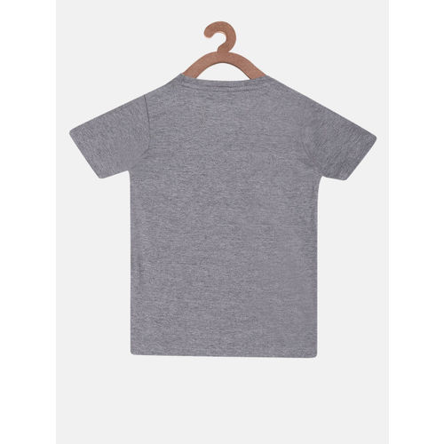 Lazy Shark Girls Grey & White Printed T-shirt with Shorts