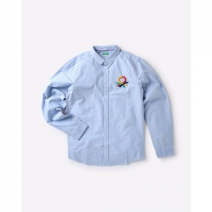 UNITED COLORS OF BENETTON Shirt with Embroidered Logo