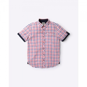 YB DNMX Checked Cotton Shirt with Welt Pocket