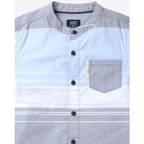 KB TEAM SPIRIT Colour-Block Shirt with Mandarin Collar