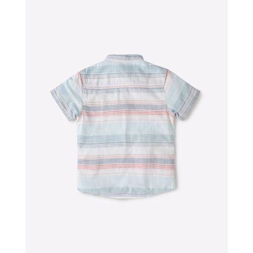 KB TEAM SPIRIT Striped Shirt with Mandarin Collar