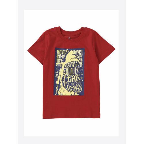 KiddoPanti Boys Pack of 2 Printed Round Neck T-shirts