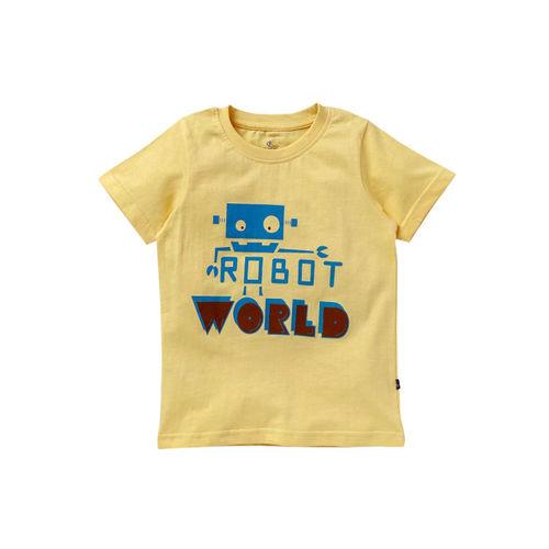 KiddoPanti Boys Pack of 2 Printed Round Neck T-shirt