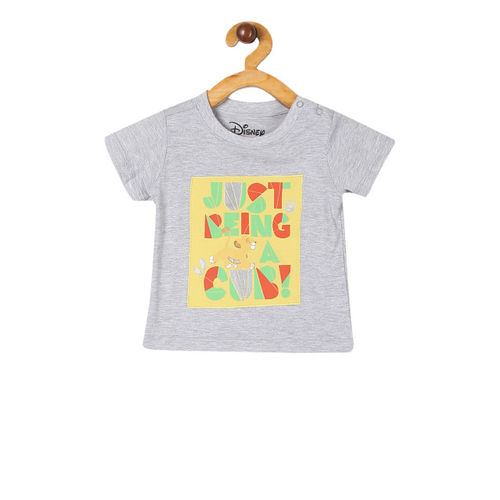 Colt Boys Grey Disney Character Printed Round Neck T-shirt