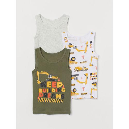 H&M Boys 3-Pack Cotton Vest Tops