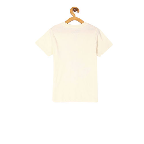 Colt Boys Off-White Mickey Mouse Print Round Neck T-shirt