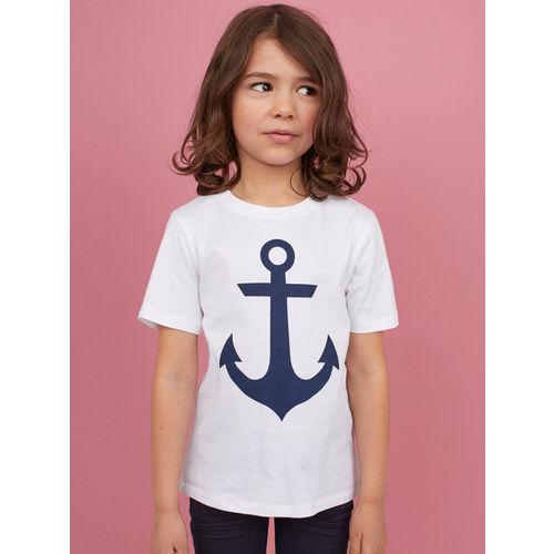 H&M Boys White Printed T-shirt