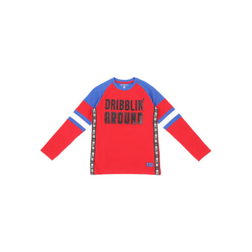 Pantaloons Junior Boys Red Printed Round Neck T-shirt