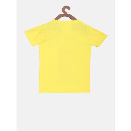 Lazy Shark Girls Yellow & Pink Printed T-shirt with Shorts