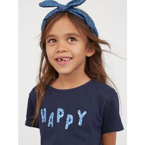 H&M Girls Blue 2-Piece Cotton Set