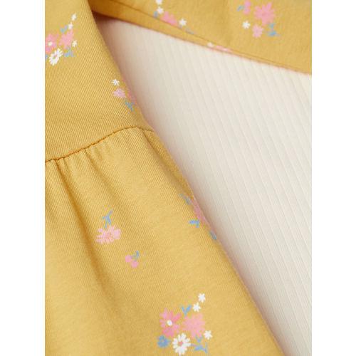 H&M Girls Yellow & White Printed 2-Piece Jersey Set