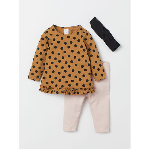 H&M Girls Beige & Pink 3-Piece Jersey Set