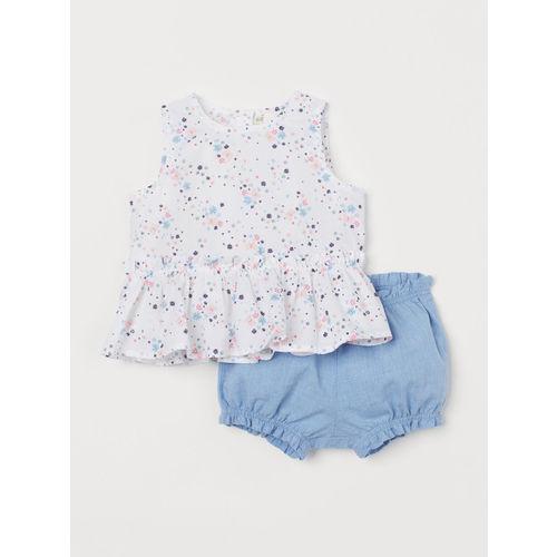H&M Girls Peplum Top And Puff Pants