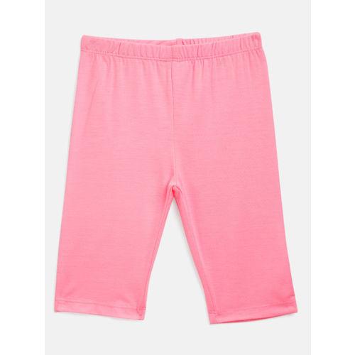Nauti Nati Girls White & Pink Printed Shirt with Leggings
