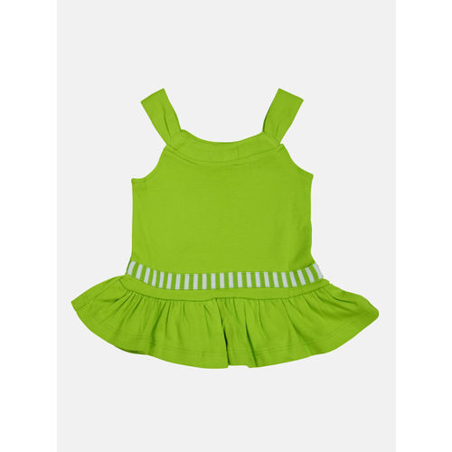 Babysafe Girls Green Printed Top with Trousers