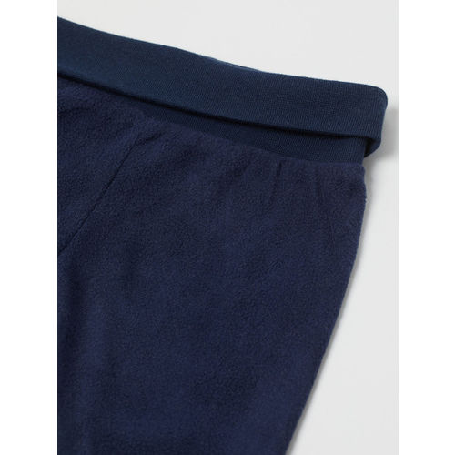 H&M Girls Blue Stiped Jacket And Trousers