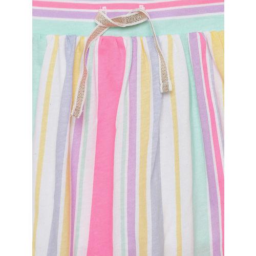 OSHKOSH Bgosh Girls Multicolored Striped A-line Skirt