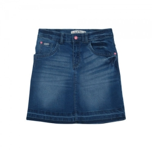 Palm Tree Girls Blue Denim Skirt