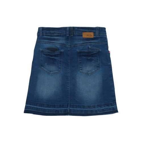 Palm Tree Girls Blue Denim Skirt