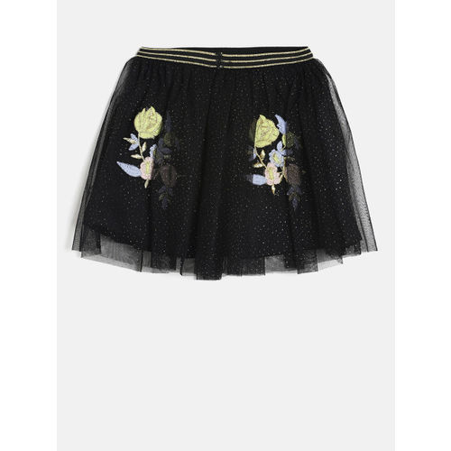 Fame Forever by Lifestyle Girls Black Flared Skirt
