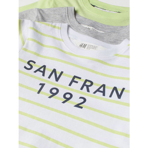 H&M Boys 3-Pack Cotton T-Shirts