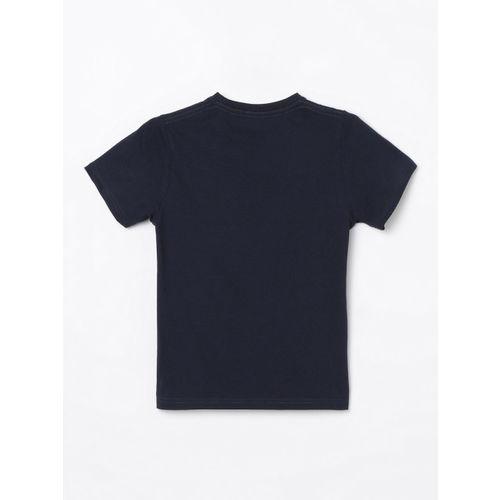 Bossini Boys Blue Printed Round Neck T-shirt