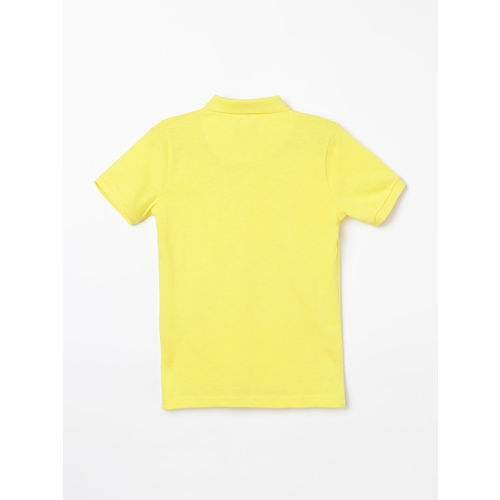 Fame Forever by Lifestyle Boys Yellow Solid Polo Collar T-shirt