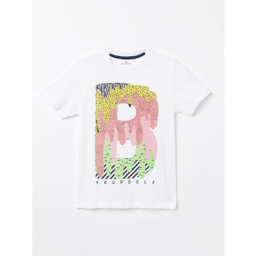 Fame Forever by Lifestyle Boys White Printed Round Neck T-shirt