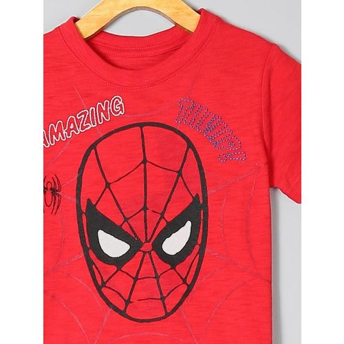 GAP Boys Red Printed Round Neck T-shirt