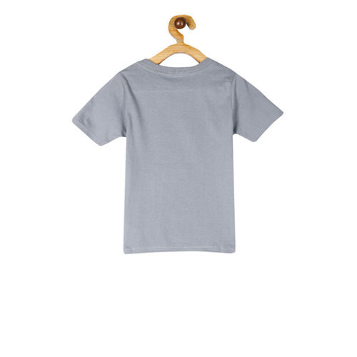 The Childrens Place Boys Grey Melange Printed Round Neck T-shirt